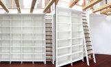 C 4 Bücherregal mit Leiter - Privathaus, Frankfurt am Main